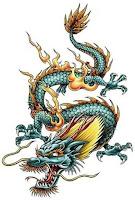 цветные тату дракона