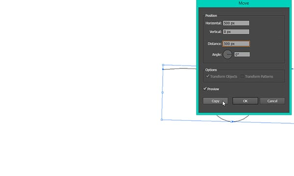 duplicate base shape with the move tool