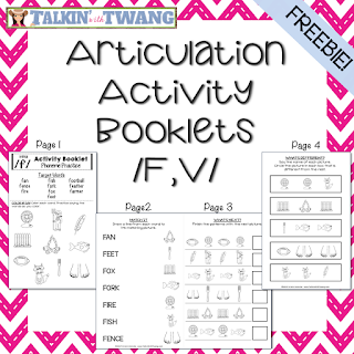 /f,v/ Activity Booklets