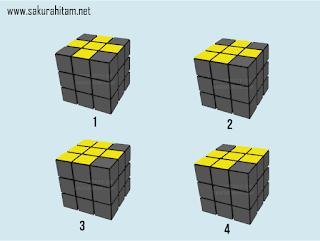 kondisi cross kuning rubik 3x3