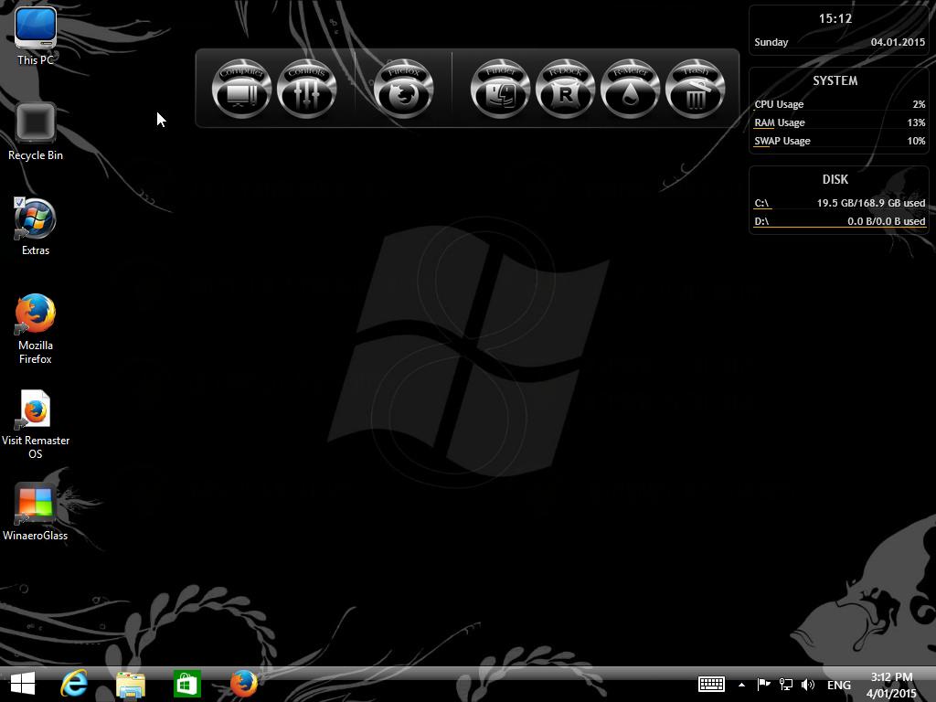 ������ ������ ������� Windows 8.1 Black Pro x64 VIII �� ��� ���� ����� ����� ������� ��������