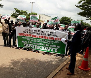 African Lawyers Take Protest To Embassy over comment on IPOB