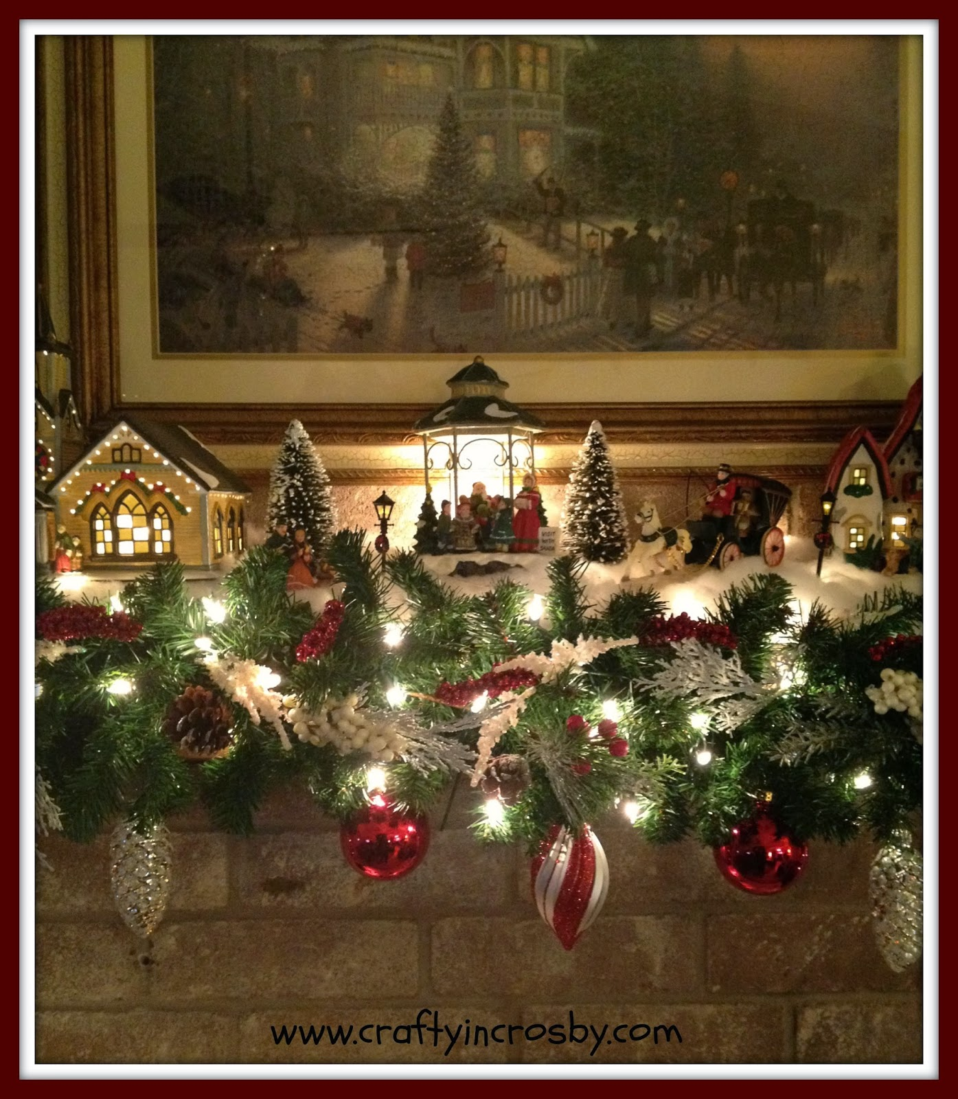 Mantle Decorations Christmas: Crafty In Crosby: Mom's Christmas Mantel