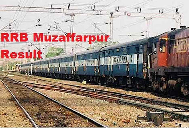 RRB Muzaffarpur Result