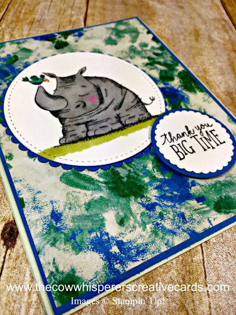 Card, Animal Outing, Rhino, Tranquil Textures