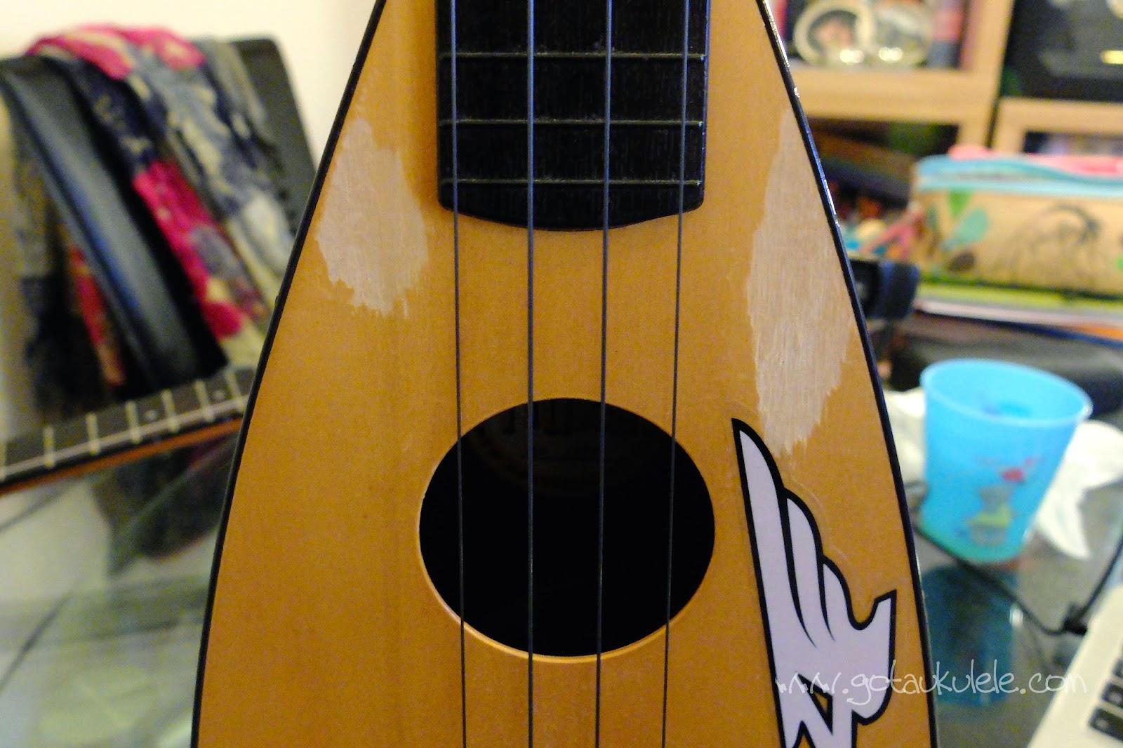 Aquila Lava Ukulele Strings on a Fluke