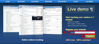 registrasi situs web di histats