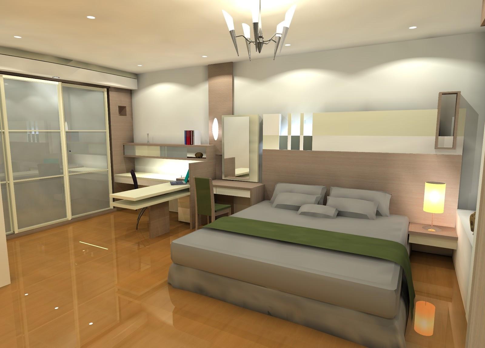 Desain Interior Kamar Tidur Modern - Rumah Minimalis