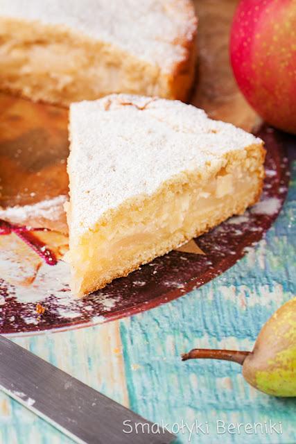 Szarlotka krucho-drożdżowa z jabłek i gruszek