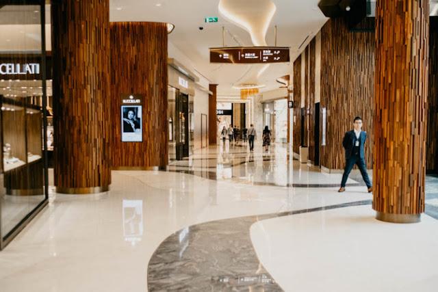 Luxury shopping area
