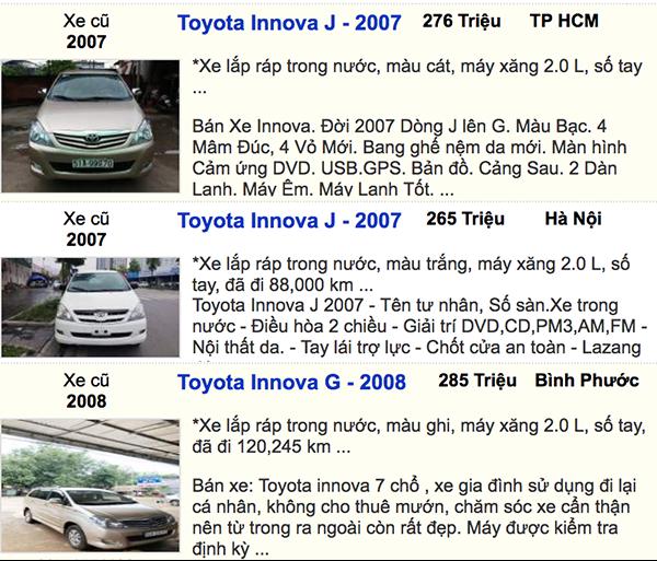 Bạn có thể nào tin xe Toyota Innova có giá 350 triệu ảnh 1