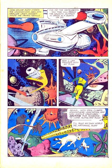 Outer Space v12 #1 charlton sci-fi comic book page art by Steve Ditko