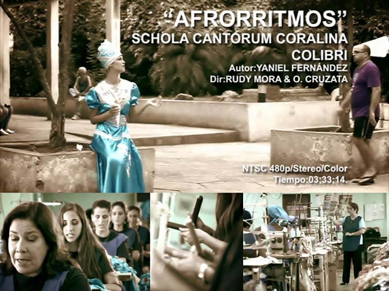 Schola Cantorum Coralina - ¨Afrorritmos¨ - Videoclip - Dirección: Rudy Mora - Orlando Cruzata. Portal Del Vídeo Clip Cubano
