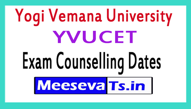 Yogi Vemana University YVUCET Exam Counselling Dates