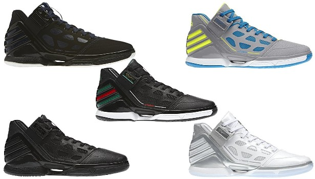 buy popular 12ee8 9d5e2 ... AdiZero Rose 2.0. Black, Forest Green, and Red