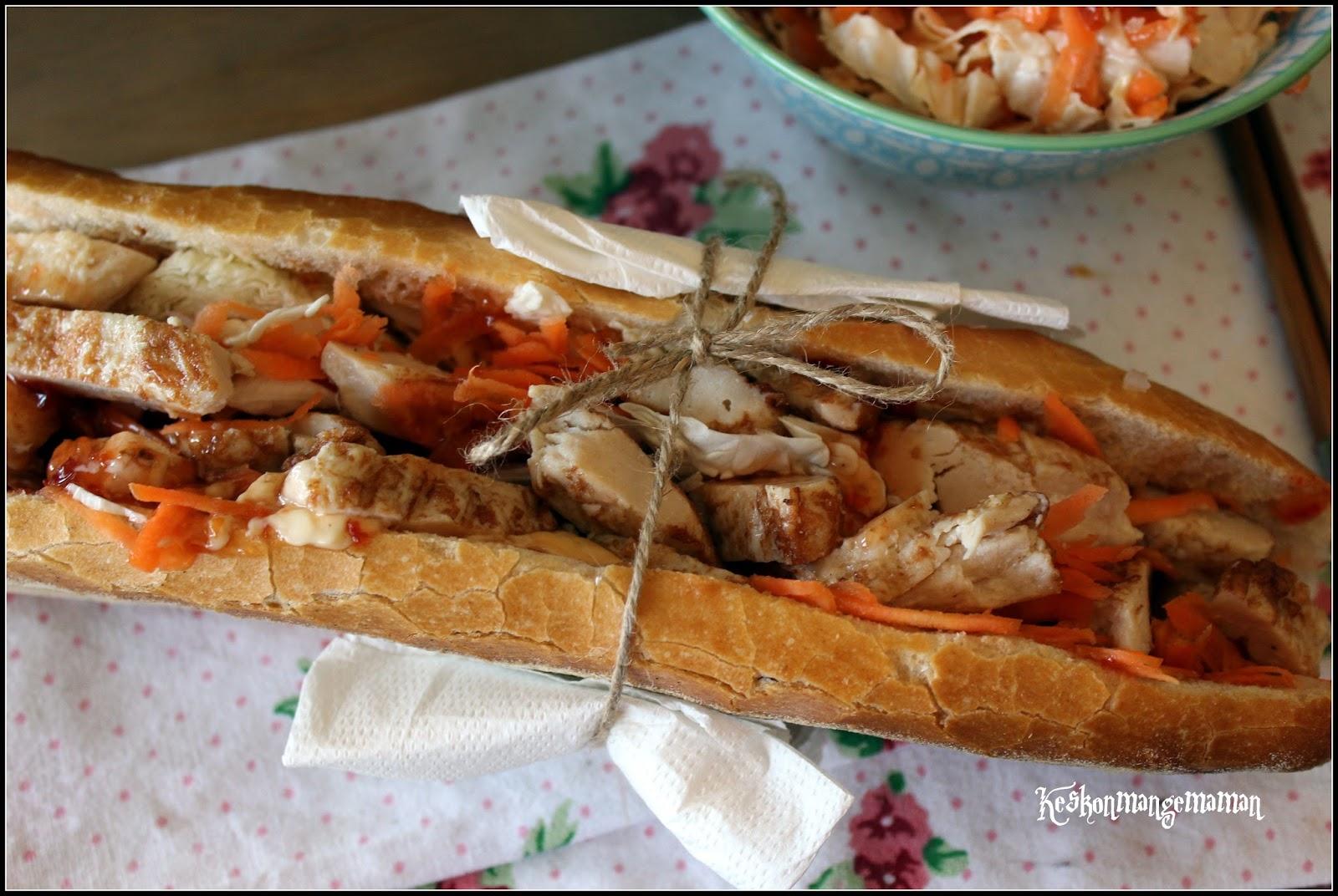 Keskonmangemaman b nh mi express ma fa on ou que faire avec un reste de poulet r ti - Que faire avec des reste de poulet ...