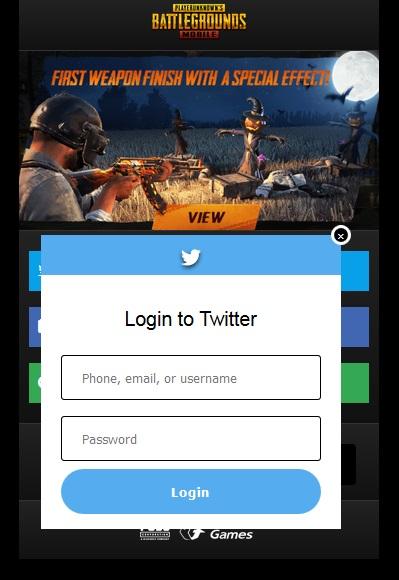 Script Phising PUBG on Mobile 2