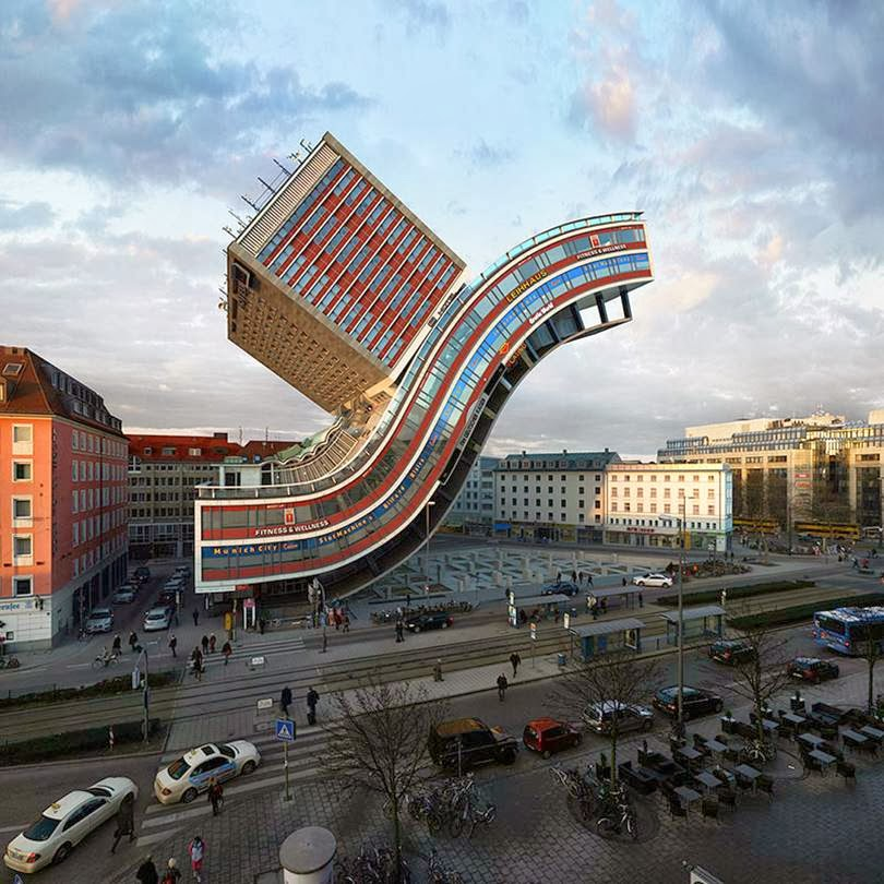 Building in munich re-imagined in 88 ways | Victor Enrich