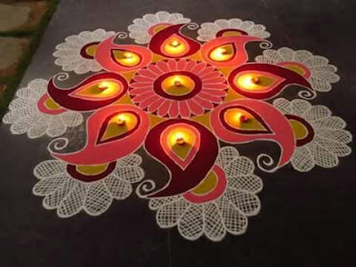 Rangoli Designs for Competition with Flowers