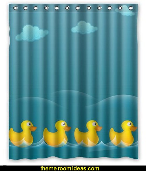 rubber ducky shower curtains