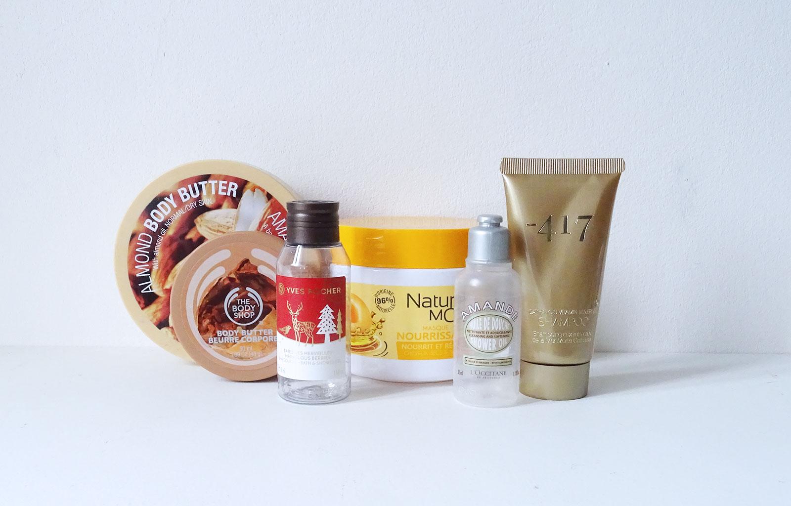 Produits terminés soins corps et cheveux
