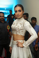 Catherine Tresa in Beautiful emroidery Crop Top Choli and Ghagra at Santosham awards 2017 curtain raiser press meet 02.08.2017 134.JPG