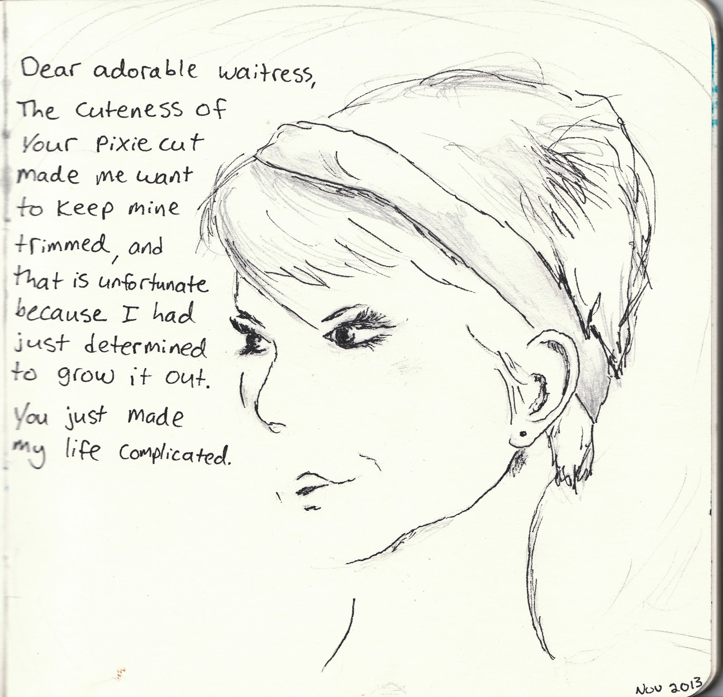 Paper Raindrops: Dear Person: of helicopters, pixie cuts