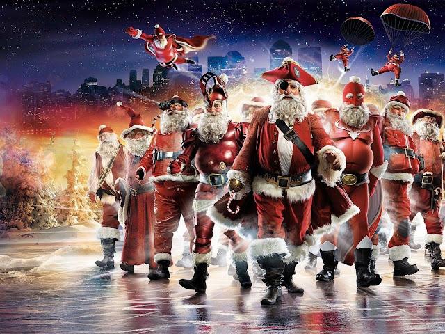 superhero christmas holidays santa claus for ipad