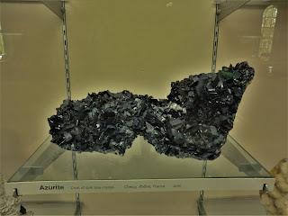 Azurita, Rhone, Francia, Museo Historia Natural de Londres