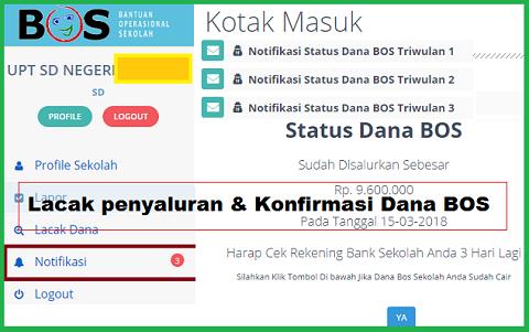 konfirmasi status penerimaan BOS secara online