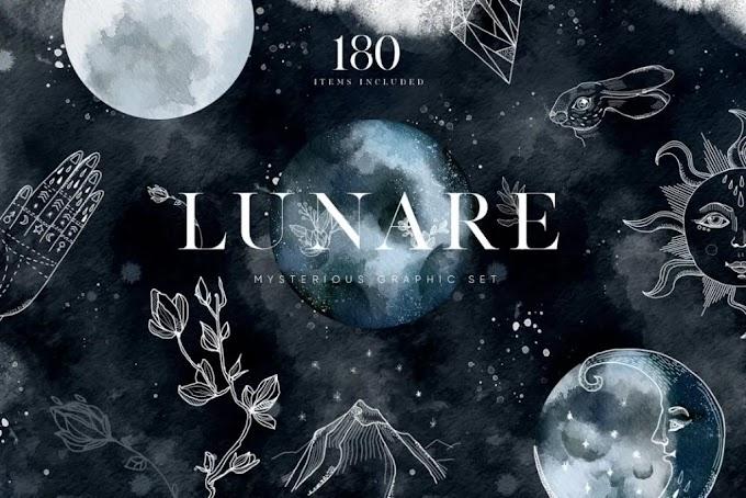 CreativeMarket Lunare. Mysterious Graphic Set 2462968