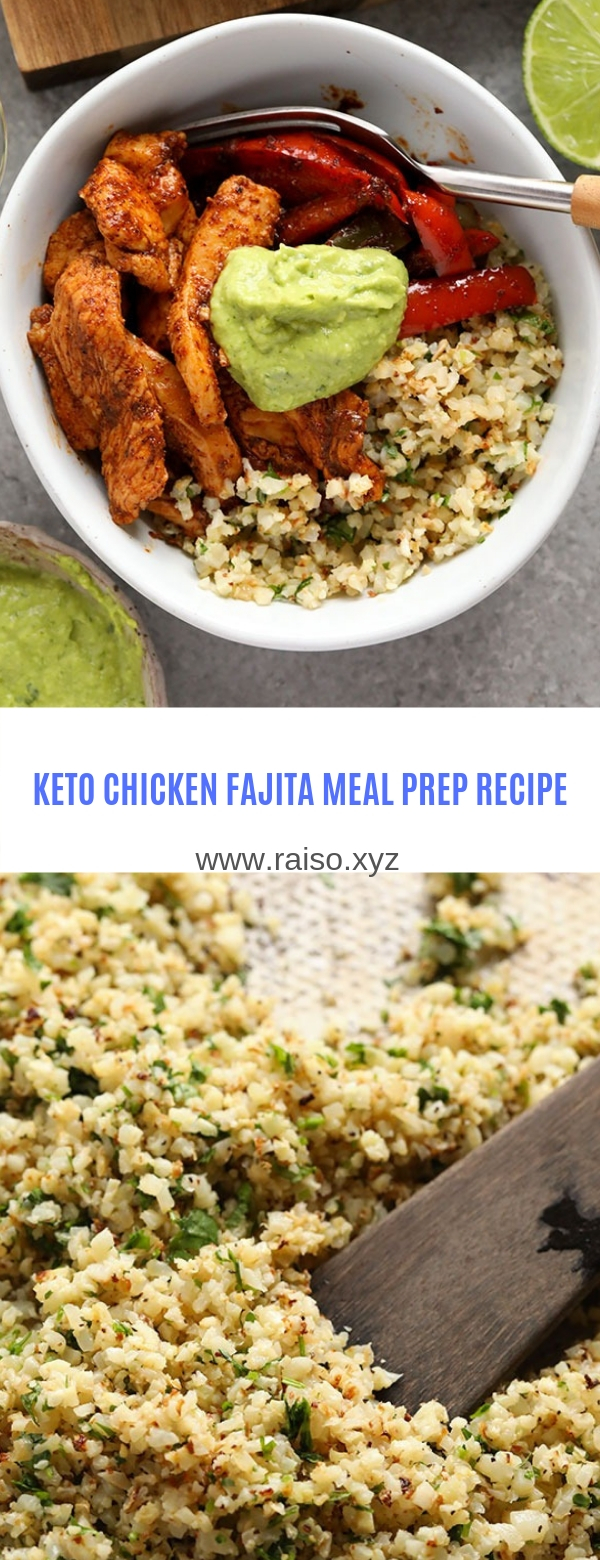 KETO CHICKEN FAJITA MEAL PREP RECIPE