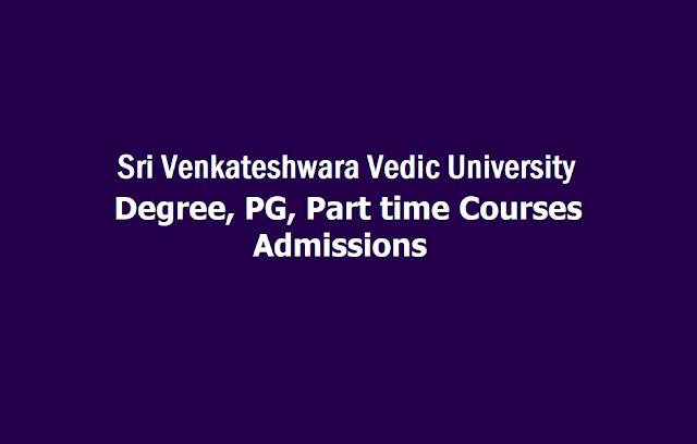 Sri Venkateshwara Vedic University Degree, PG, Part time Courses Admissions 2019