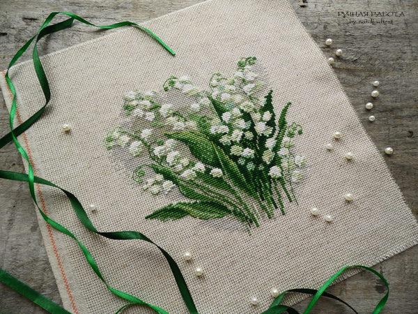 Вышивка шерстью цветок