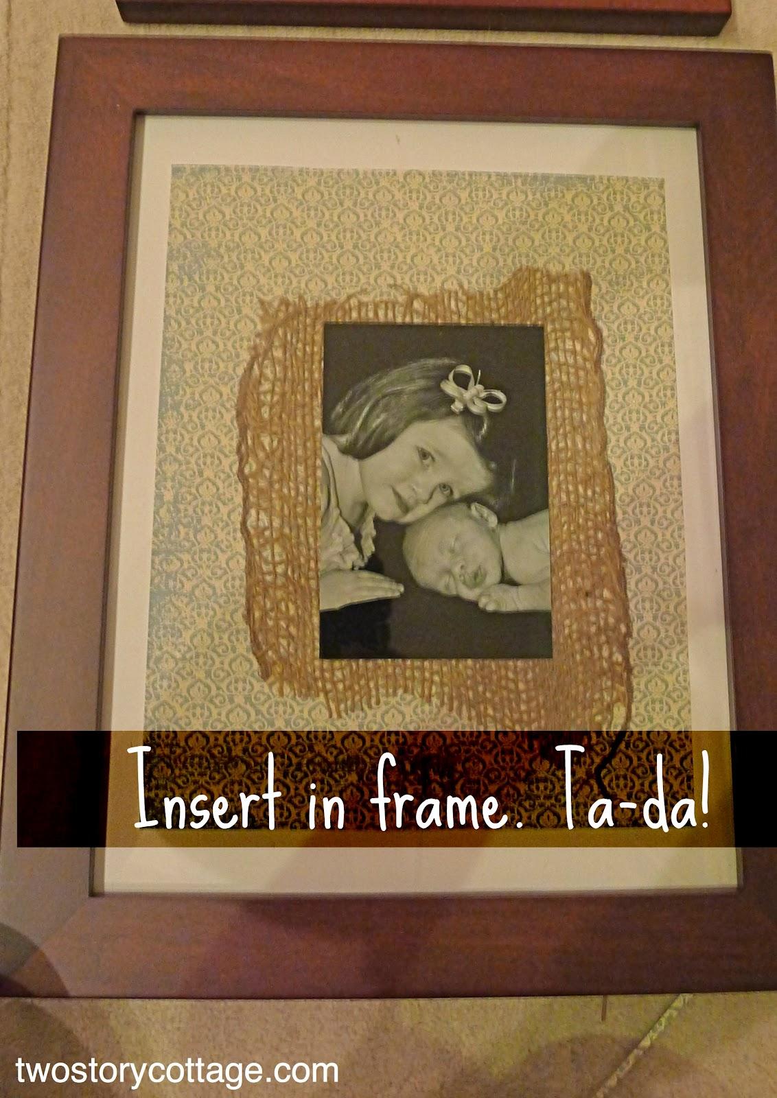 Burlap Amp Scrapbook Paper Frames Mats