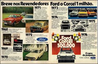 propaganda Ford Corcel - 1976, Ford Willys anos 70, carro antigo Ford, década de 70, anos 70, Oswaldo Hernandez, Corcel 76,