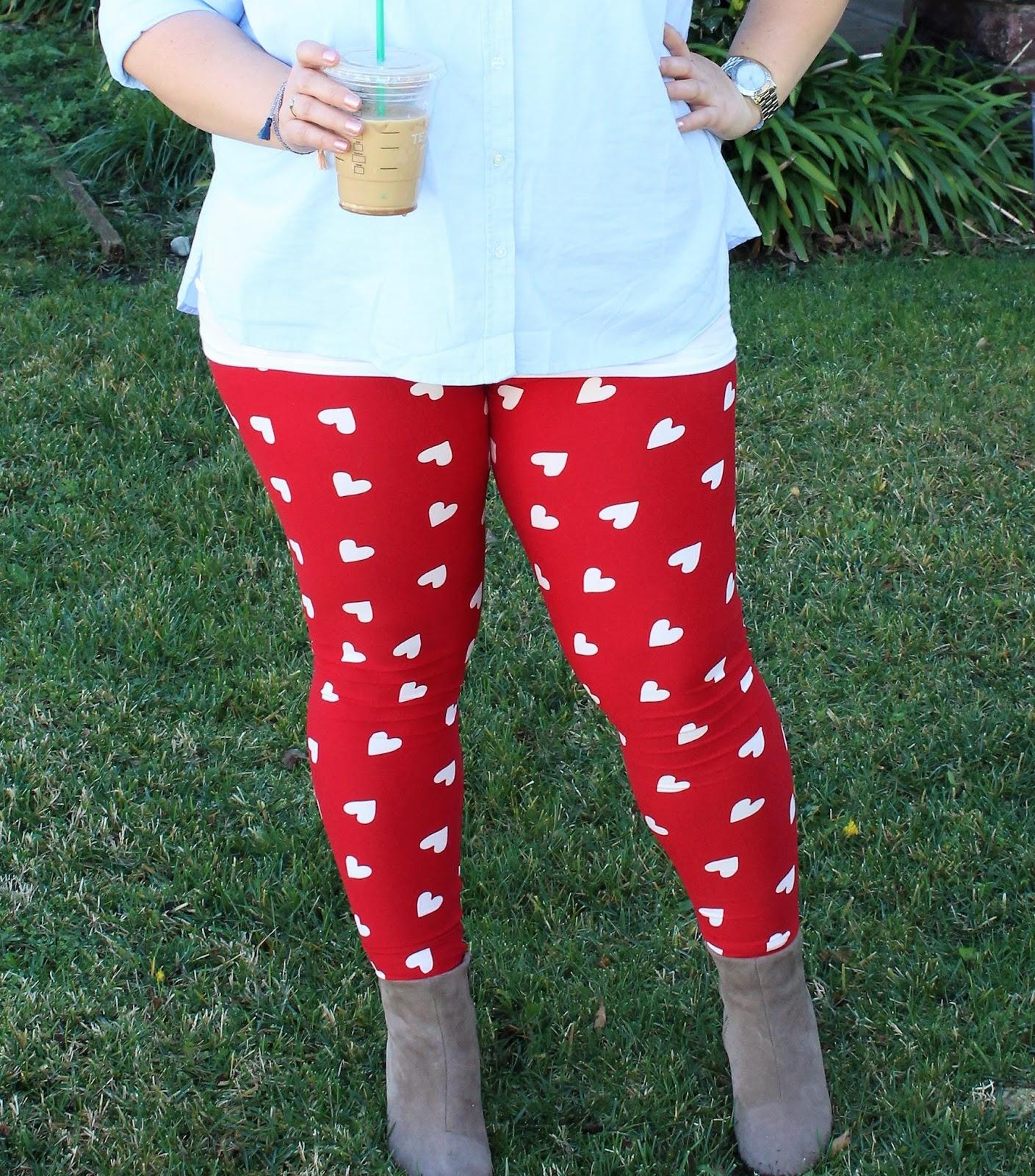 LuLaRoe Valentine's Leggings