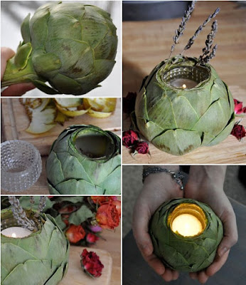 K'Mich Weddings - wedding ideas - artichoke centerpiece