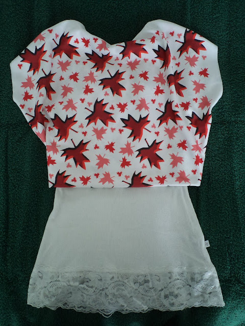 Crop Top Made from Canadiana Fabric by eSheep Designs