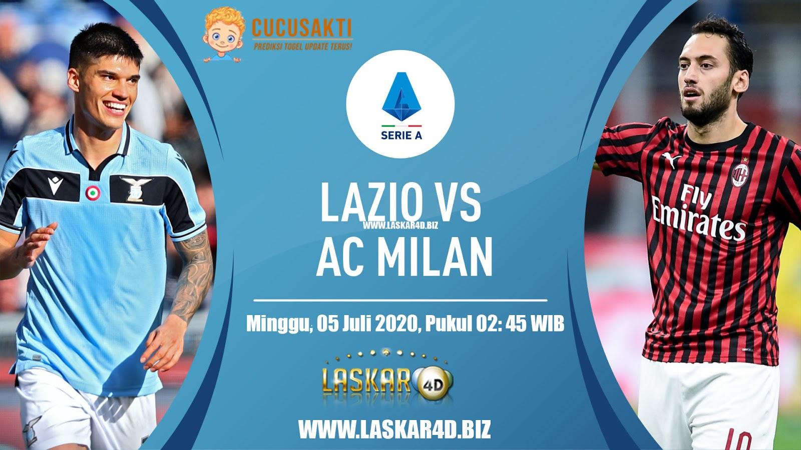 Prediksi Bola Lazio vs AC MIlan, Minggu 05 Juli 2020