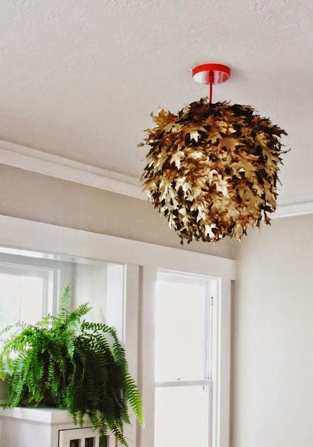 la reines blog im herbst basteln lampe aus bl ttern selber machen. Black Bedroom Furniture Sets. Home Design Ideas