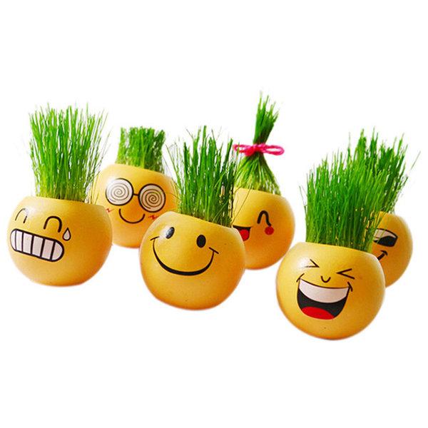 Cerâmica Emoji Cartoon Grama