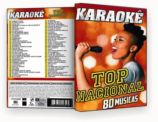 CAPA DVD – Karaoke Top Nacional 80 Musicas – ISO