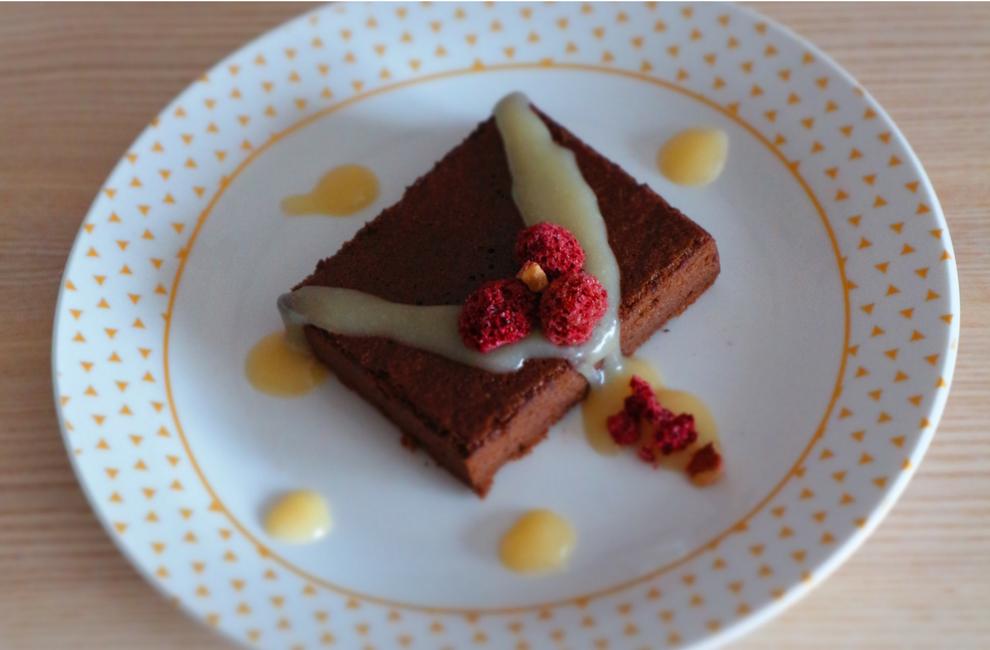 Brownies + gluten free + sem glúten + de chocolate com cobertura de caramelo + receita caseira + 2 ingredientes + blogue de casal português + ela e ele + ele e ela + Pedro e Telma (1)