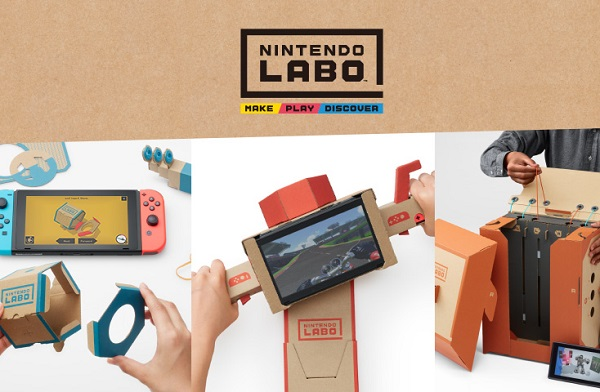 Nintendo Labo announced, A series of DIY kits crafted to work with the Nintendo Switch