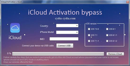 iCloud Activation Bypass Tool - Learn how to Bypass the iCloud lock screen on iPhone 6S SE 6 5S 5C 5 4S
