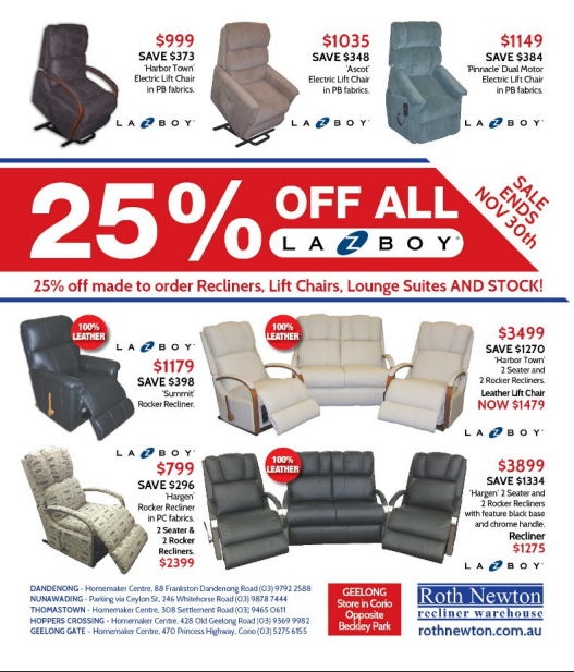 Lazy Boy Recliner: 25% Discounts on La Z Boy Recliners ...