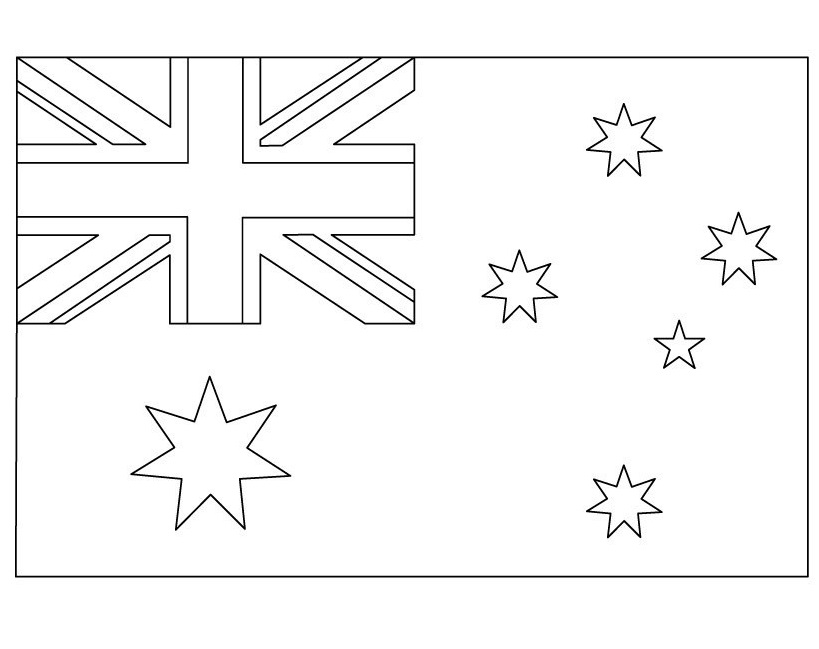The Geography Blog: Australian Flag Coloring Page Printable