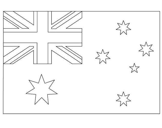 Geography Blog: Australian Flag Coloring Page Printable