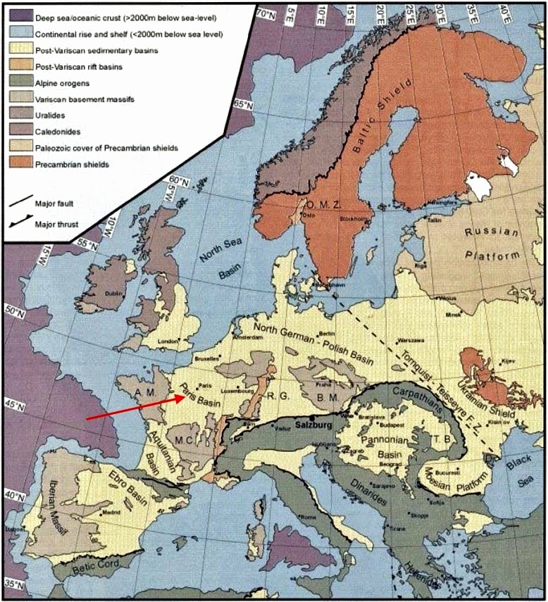 Geologic Map Of Europe.Written In Stone Seen Through My Lens Geological Legacies Of The